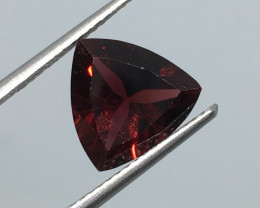 3.10 Carat VVS Garnet Trillion Mozambique Untreated Beauty !
