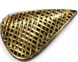 33.04-CTS BLACK ONYX 24K GOLD ENGRAVED TBG-3373