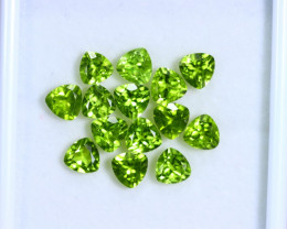 12.14cts Natural Apple Green Color Peridot Lots / RD360