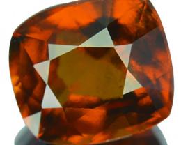2.58 Cts Natural Hessonite Garnet Cinnamon Orange Cushion Sri Lanka