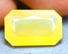 Fire Opal 4.15Ct Natural Faceted Mexican Yellow Fire Opal D0534