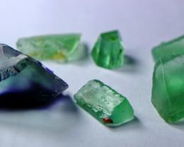 75.85 Cts Beautiful, Superb Green & Blue Fluorite Rough Lot