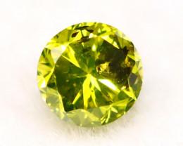 Neon Yellow Diamond 2.69mm Natural Untreated Neon Yellow Diamond A0503