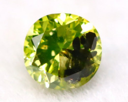 Neon Yellow Diamond 2.76mm Natural Untreated Neon Yellow Diamond A0504