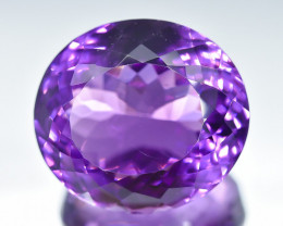 23.68 Crt Natural Amethyst Faceted Gemstone.( AB 21)