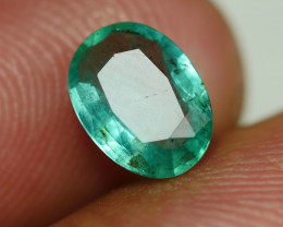 1.00CRT BEAUTY GREEN EMERALD ZAMBIAN-