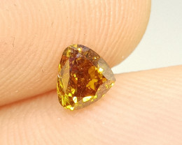 0.69ct  Fancy Deep  Brown  Orange Diamond , 100% Natural Untreated