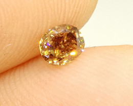 0.59ct  Fancy Deep   Brown Diamond , 100% Natural Untreated