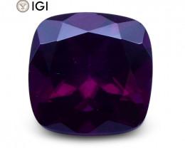 1.96 ct Cushion Almandite Garnet IGI Certified