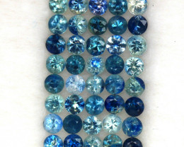 4.03 ct. 2.7 mm .NATURAL GEMSTONE MULTI COLOR SAPPHIRE DIAMOND CUT 40PCS