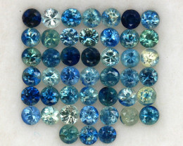 4.06 ct. 2.6 mm. DIAMOND CUT MULTI COLOR SAPPHIRE NATURAL GEMSTONE 45PCS