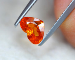 1.02Ct Natural Mandarin Garnet Heart Cut Lot Z602