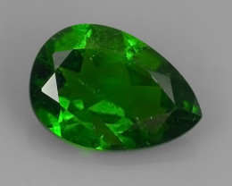 1.80 Cts MARVELOUS RARE PEAR NATURAL TOP GREEN- CHROME DIOPSIDE DAZZL