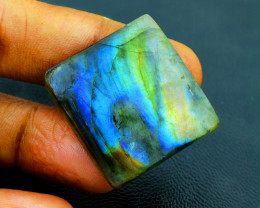 Genuine 46.00 Cts Blue & Green Flash Labradorite Cab