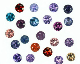 3.70 Cts Natural Fancy Spinel Multi-Color 3.3mm Round Cut 22Pcs