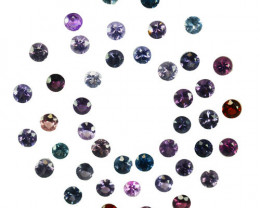 4.27 Cts Natural Fancy Spinel Multi-Color 2.7mm Round Cut 43Pcs