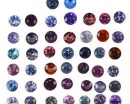 4.28 Cts Natural Fancy Spinel Multi-Color 2.8mm Round Cut 44Pcs