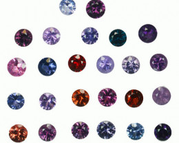 4.67 Cts Natural Fancy Spinel Multi-Color 3.6mm Round Cut 25Pcs