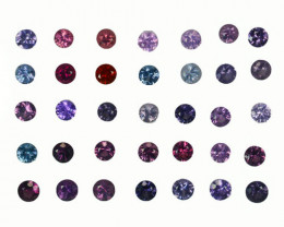 4.49 Cts Natural Fancy Spinel Multi-Color 3mm Round Cut 35Pcs