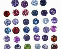 4.48 Cts Natural Fancy Spinel Multi-Color 3mm Round Cut 39Pcs