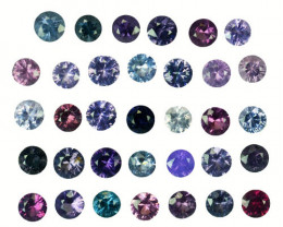 4.56 Cts Natural Fancy Spinel Multi-Color 3mm Round Cut 34Pcs