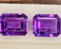 6.20 CT Natural Tremendous Color Fancy Cut Amethyst ~ Pairs