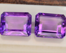 6.70 CT Natural Tremendous Color Fancy Cut Amethyst ~ Pairs