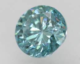 Natural Sky Blue Diamond - 0.485 ct