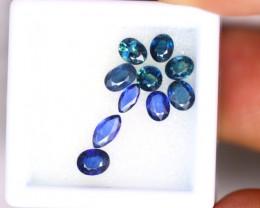 Blue Sapphire 2.65Ct 10Pcs Natural Blue Sapphire EN24