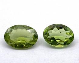 Peridot Lot of 2 gemstones 2.66 ct 2.69 ct Oval cut Natural Gemstone