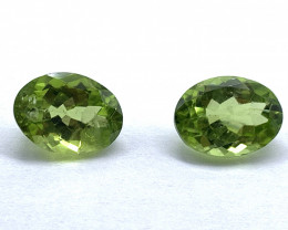Peridot Lot of 2 gemstones 3.52 ct 3.58 ct Oval cut Natural Gemstone
