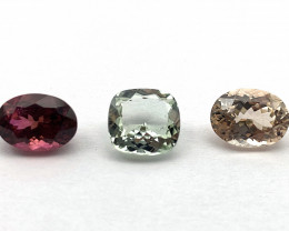 Tourmaline 5.71 ct Lot of 3 gemstones