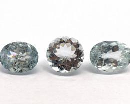 Aquamarine Lot of 3 gemstones 5.16 ct 6.81 ct 6.90 ct