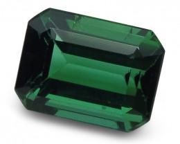 1.81 ct Emerald Cut Green Tourmaline CGL-GRS Certified