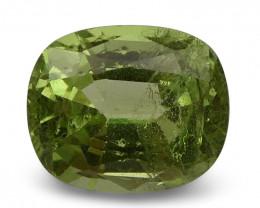 2.71 ct Cushion Green Grossularite / Tsavorite Garnet CGL-GRS Certified