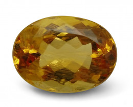 6.51 ct Oval Yellow Topaz/Golden Topaz CGL-GRS Certified