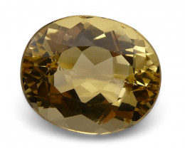 6.05 ct Oval Heliodor/Golden Beryl CGL-GRS Certified
