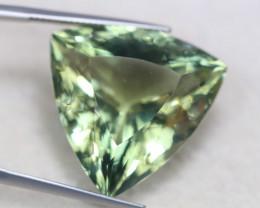 35.71ct Natural Green Amethyst Trillion Cut Lot V5722