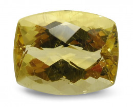 10.02 ct Cushion Checkerboard Heliodor/Golden Beryl CGL-GRS Certified