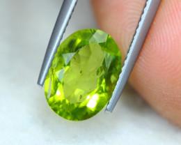 3.15ct Natural Green Peridot Oval Cut Lot V5737