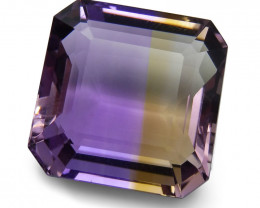 17.15 ct Emerald Cut Ametrine CGL-GRS Certified- $1 NR Auction