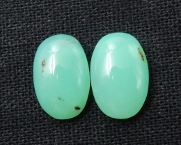 13.5cts Chrysoprase Mached Pair Cabochons Semi Gemstone Pair F106