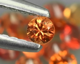 1.90 Cts Natural Intense Beautiful Orange Sapphire Round Shape Parcel!!!