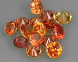1.10 Cts Natural Intense Beautiful orange Sapphire round Shape Parcel!!!