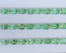 Mint Apple Green 29.64 Carats Natural Color Tourmaline Gemstone Parcels Fro