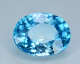 AAA Color 4.55 Ct Natural Vibrant Blue Zircon From Cambodia. RA5
