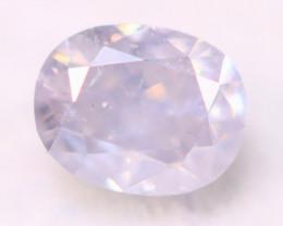 Lavender Blue Diamond 0.19Ct Natural Untreated Fancy Blue Diamond C0708