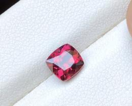 1.45 Ct Natural Red Transparent Rhodolite Garnet Gemstone