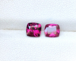1.70 Ct Natural Red Transparent Rhodolite Garnet Gems Pairs