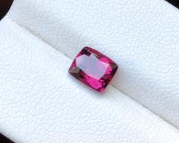 1.45 Ct Natural Top Red Transparent Rhodolite Garnet Gemstone